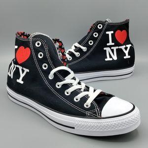 NEW Mens Converse CTAS Hi I Love ❤️ NY New York